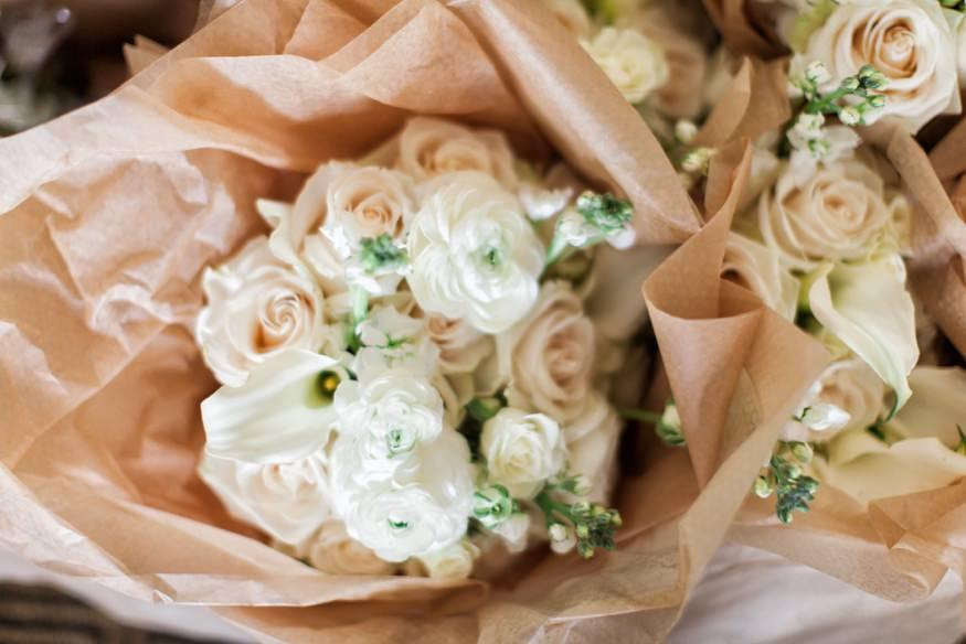 Wedding bouquet at Spring Shadowbrook wedding.