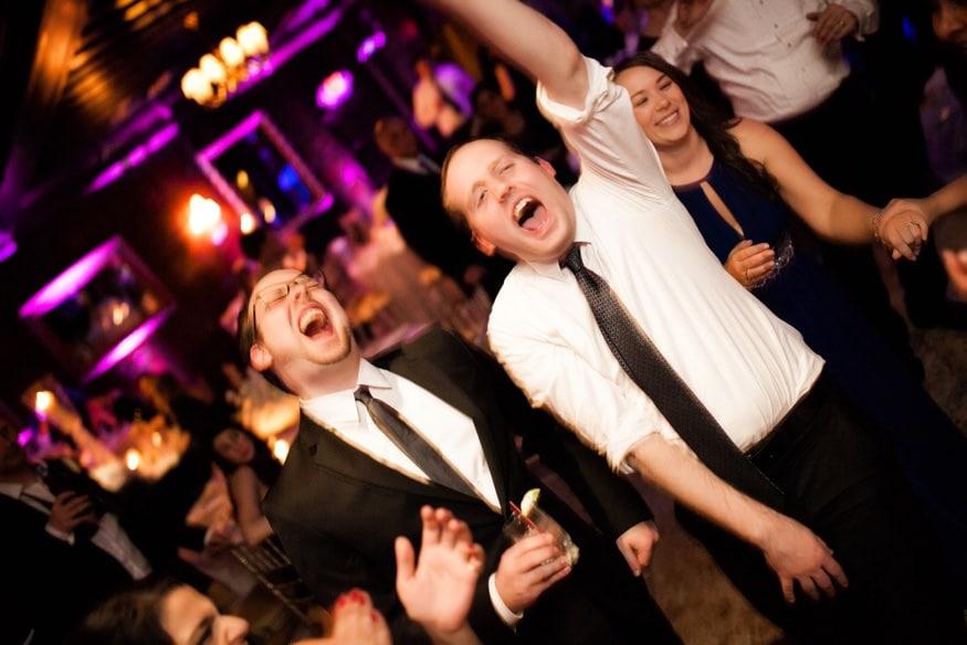 Dancing at Spring Shadowbrook wedding reception.