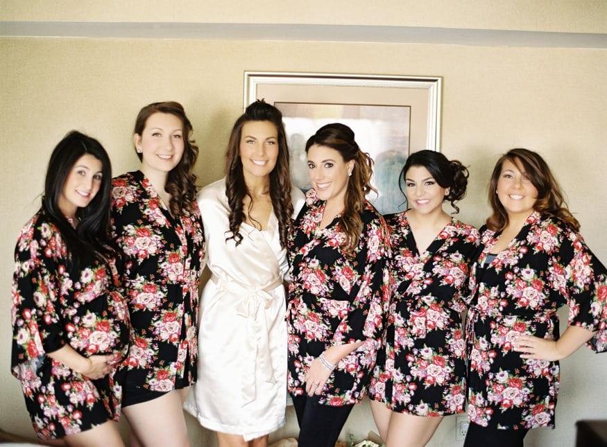 Bridesmaids getting ready at Spring Shadowbrook wedding.