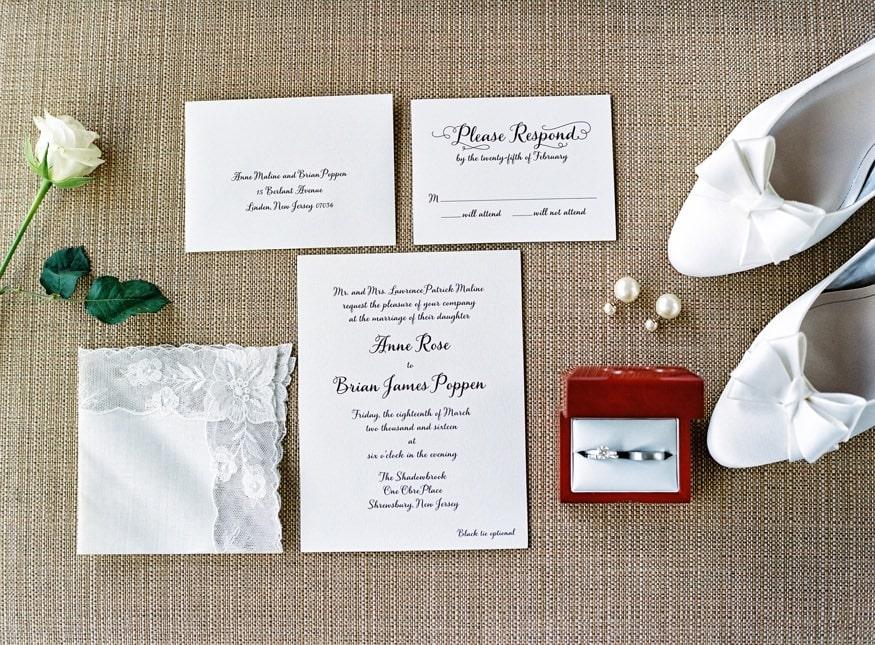 Wedding details at Spring Shadowbrook wedding.