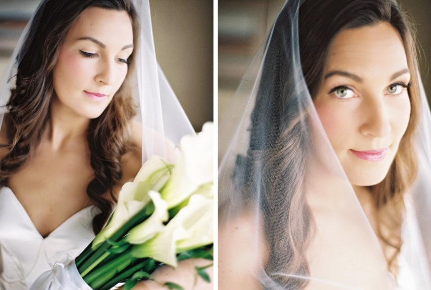 Bride's portraits at Spring Shadowbrook wedding.