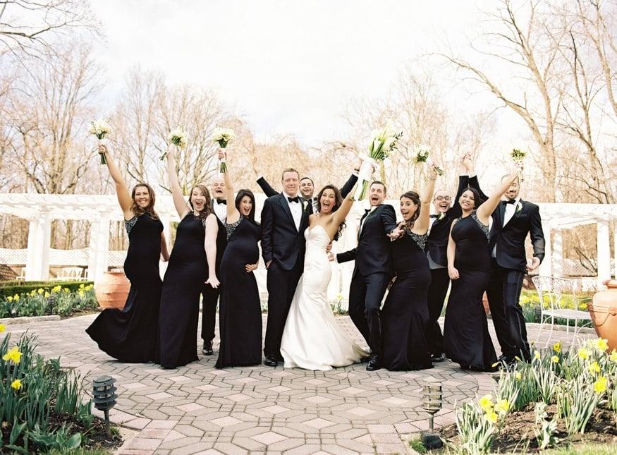Bridal party portraits at Spring Shadowbrook wedding.