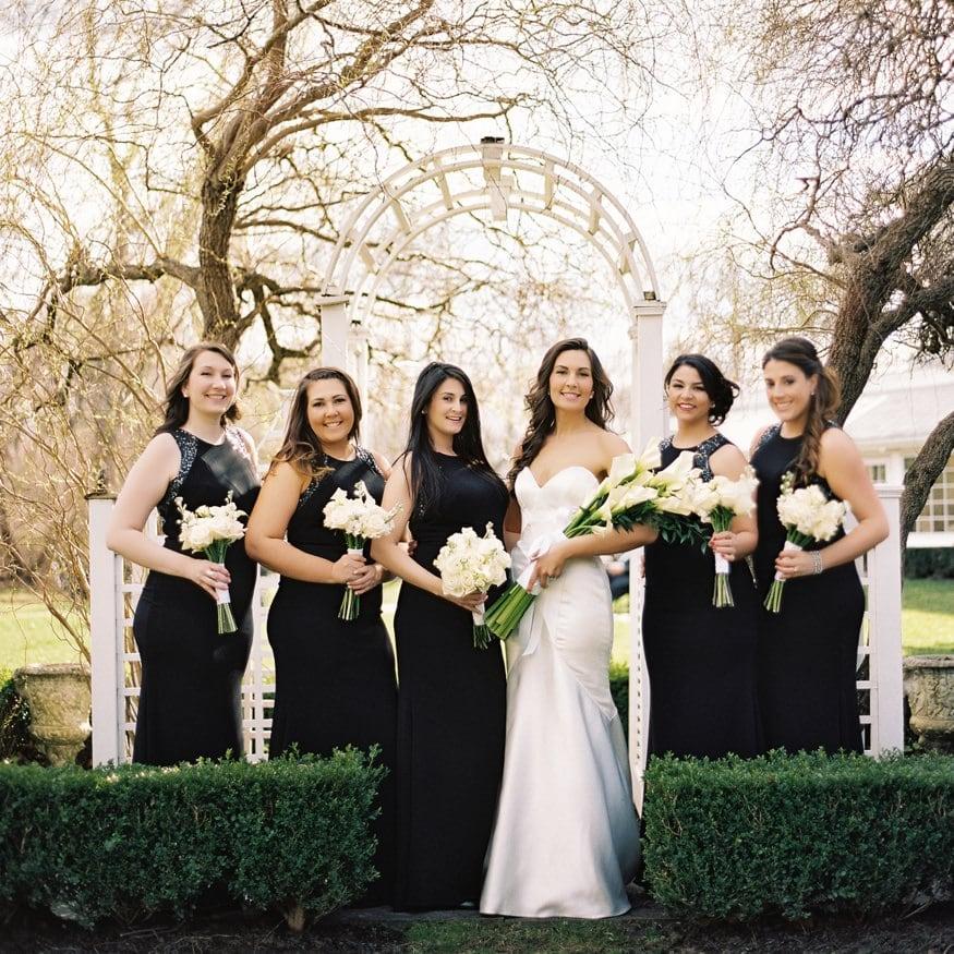 Bridesmaids portraits at Spring Shadowbrook wedding.