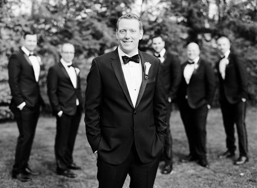 Groomsmen portraits at Spring Shadowbrook wedding.