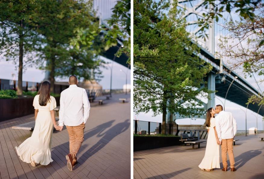 Engagement session at Race Street Pier Philadelphia.
