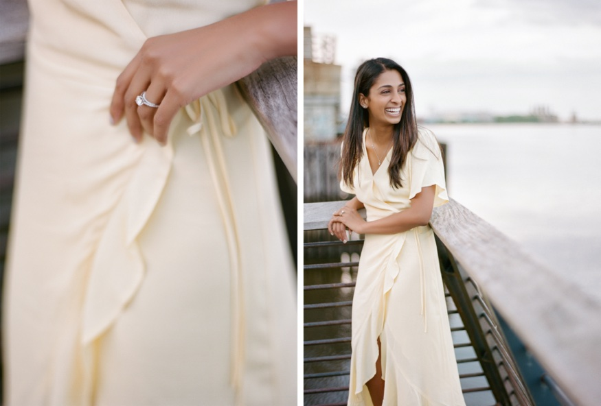 Race Street Pier engagement session in Philly.