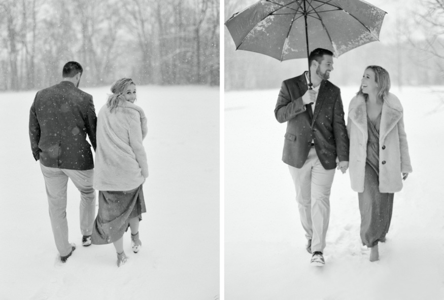 Snowy South Jersey engagement session.