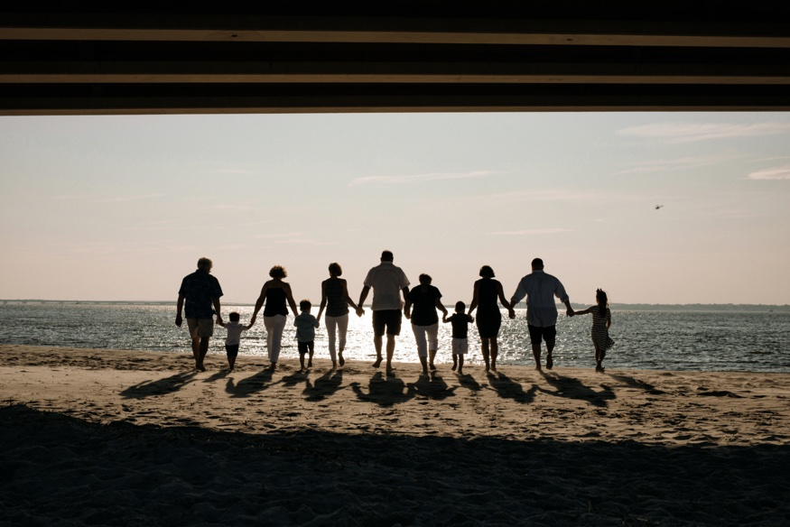 Sea Isle City family beach portraits.