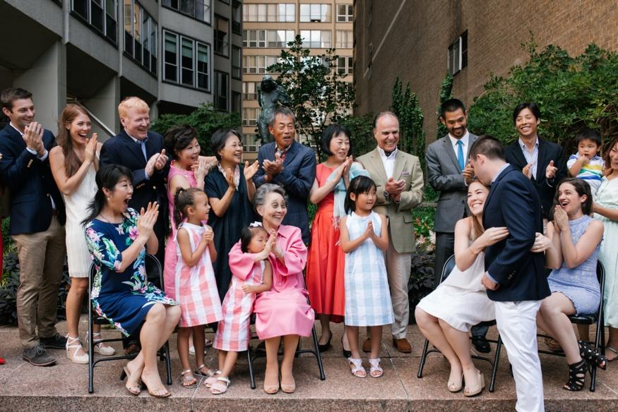 Surprise proposal in Rittenhouse Philadelphia.