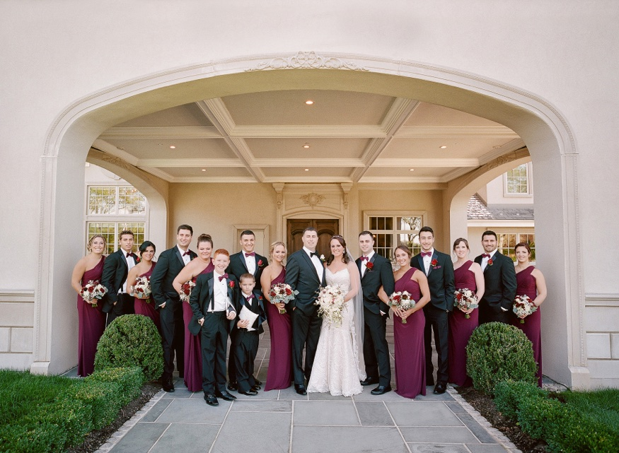Bridal party at the Park Chateau wedding.
