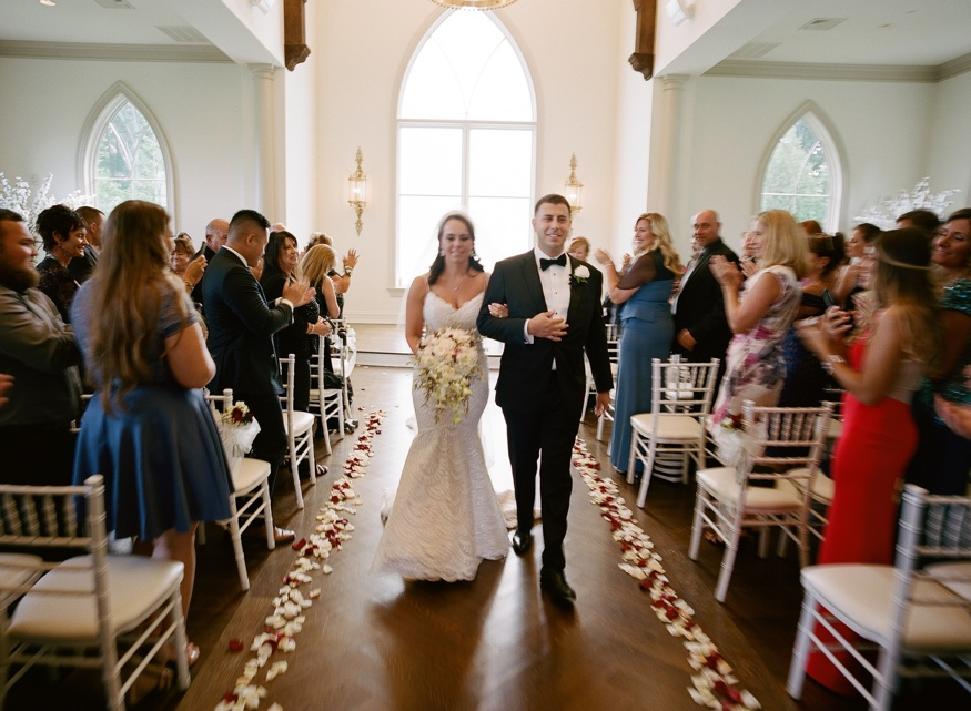 Wedding ceremony in the chapel at the Park Chateau.