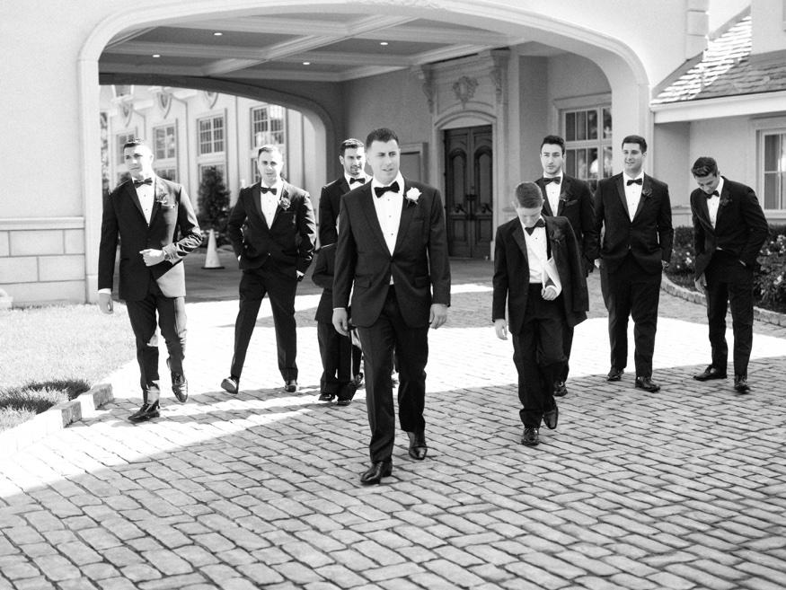 Groomsmen in Dante Zeller tux at Park Chateau wedding.