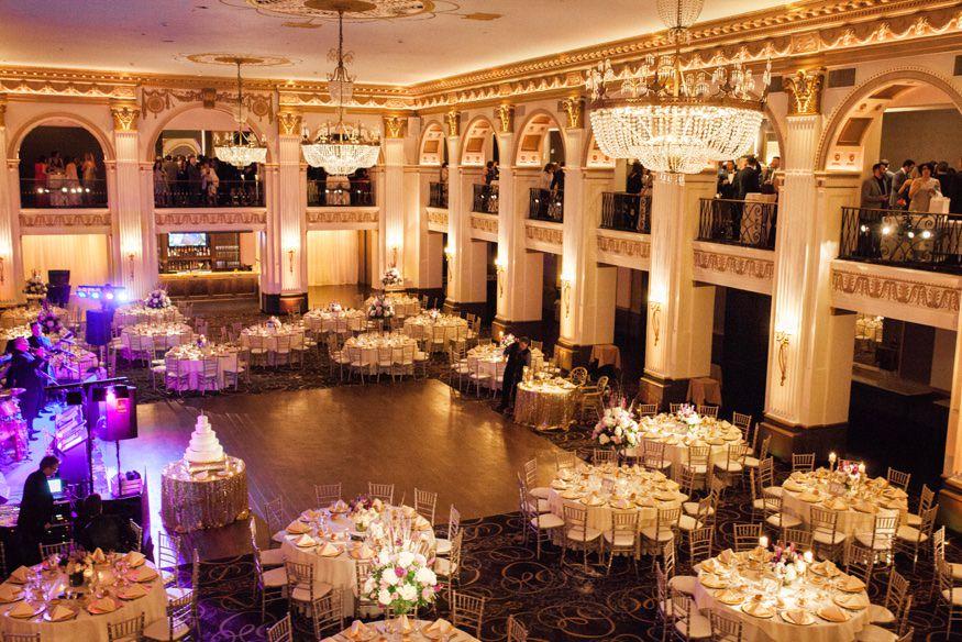 Wedding reception at Ballroom at the Ben in Philadelphia.
