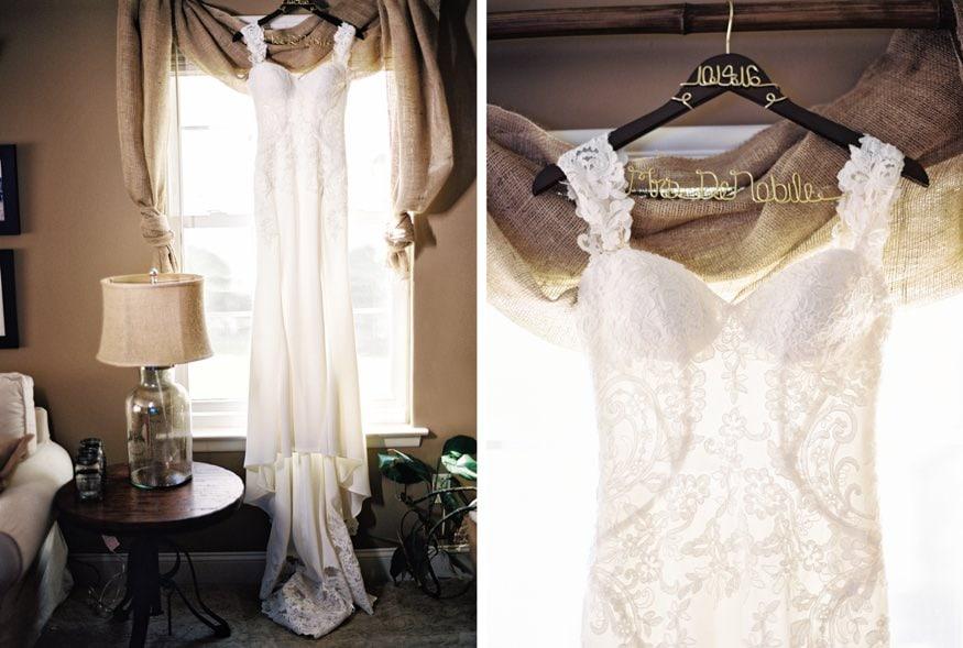 Bride's wedding dress by Essense of Austraila.