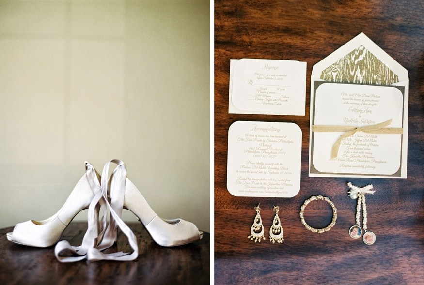 Bride's shoes by Nina.