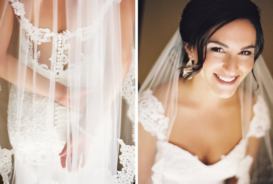 Bride's portraits before fall wedding at Knowlton Mansion.