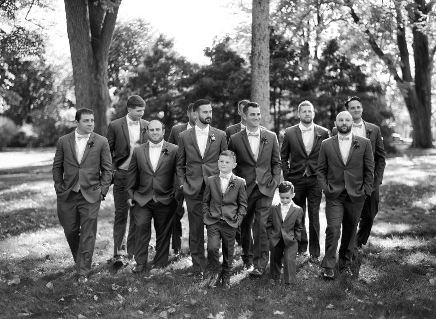 Groomsmen portraits at Knowlton Mansion wedding.