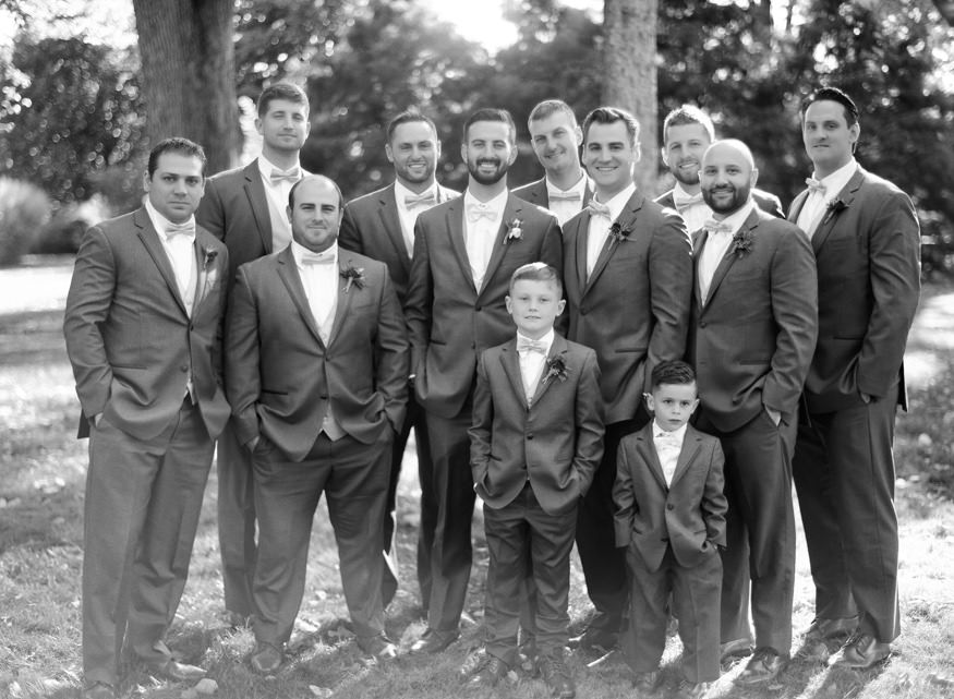 Groomsmens portraits at Knowlton Mansion wedding.
