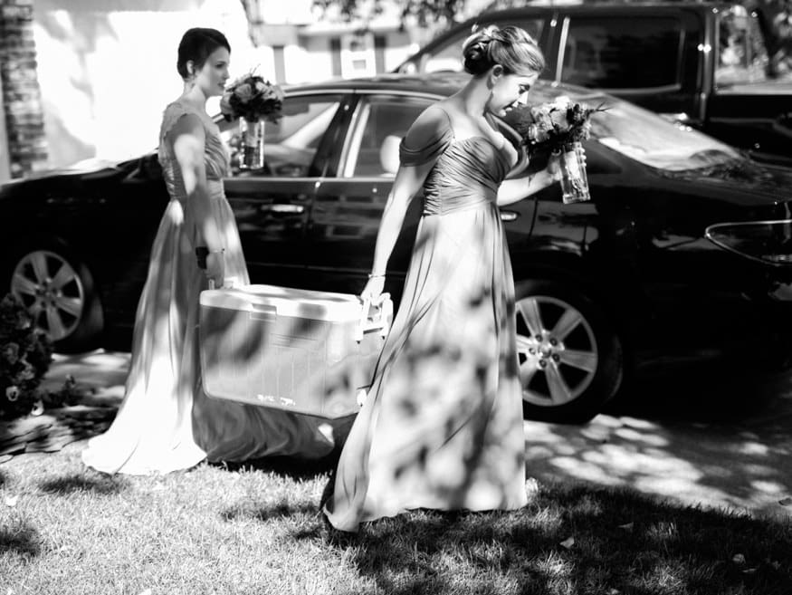 Bridal party at Knowlton Mansion wedding.