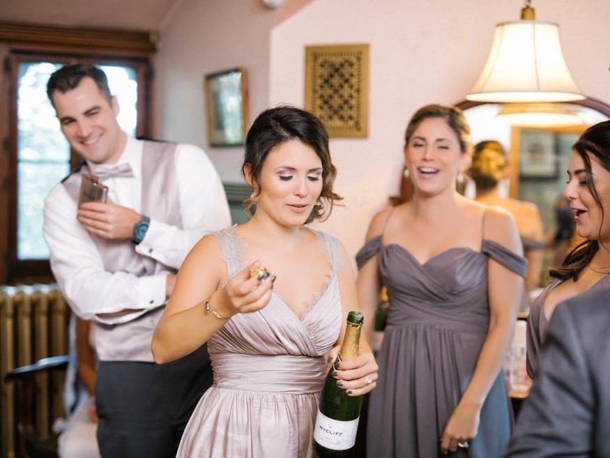 Reception details at Fall wedding at Knowlton Mansion.