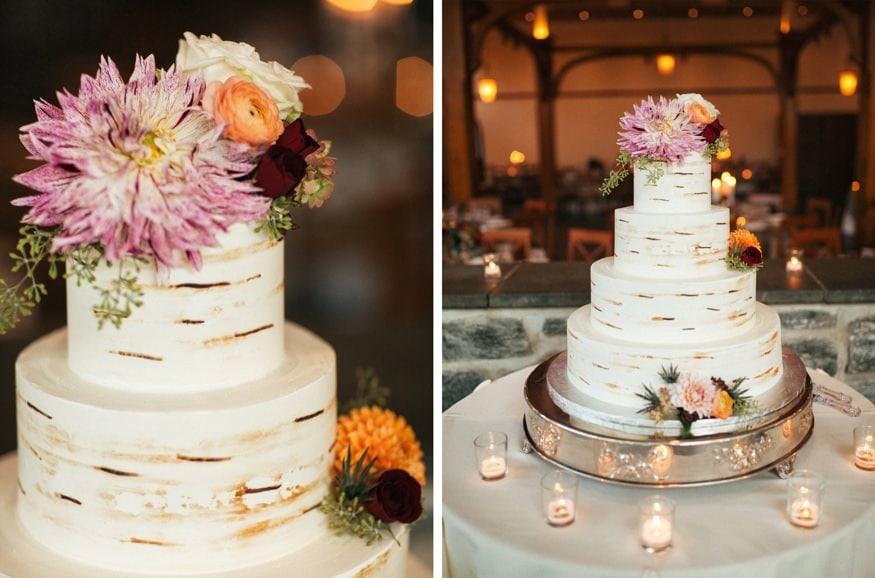 Wedding cake at Knowlton Mansion wedding.