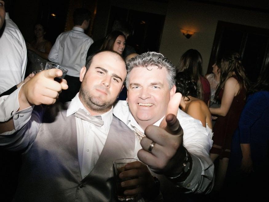 Dancing at Knowlton Mansion wedding reception.