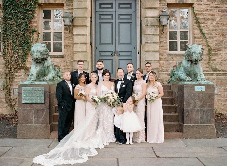 Bridal Party portraits at Princeton University.