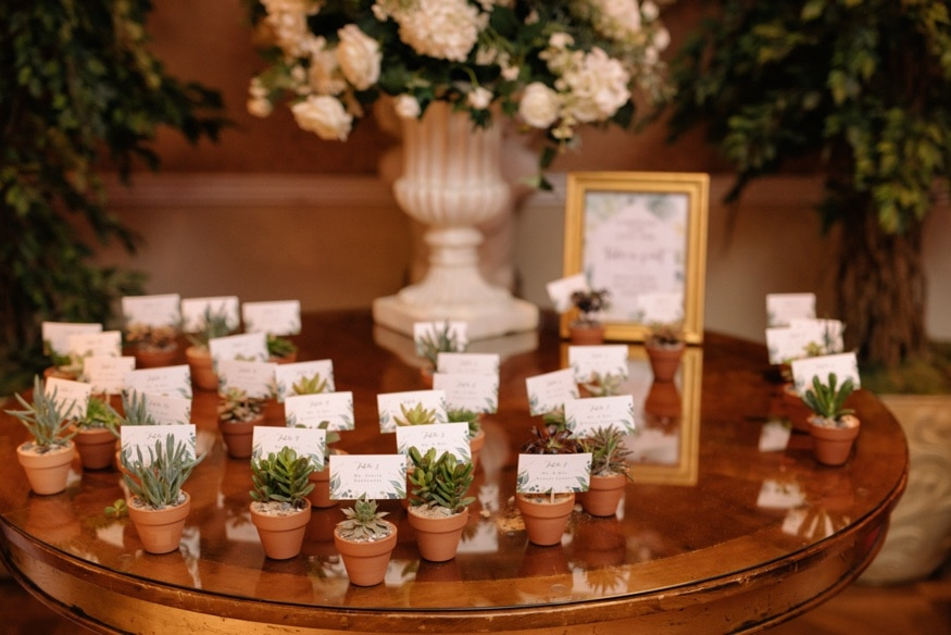 Palace at Somerset wedding venue reception details. Flowers by Petal Pushers.