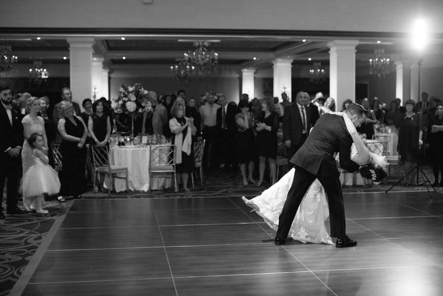 First Dance at Palace at Somerset park wedding.