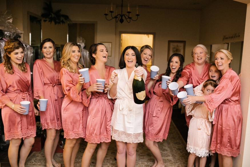 Bridesmaids getting ready at the Brandywine Manor House wedding.