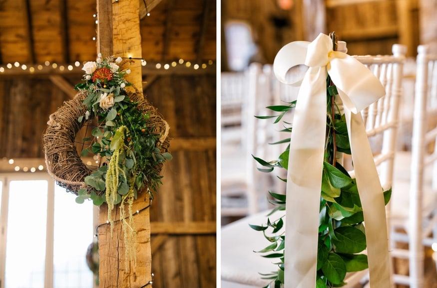 Barn wedding ceremony at Brandywine Manor House.
