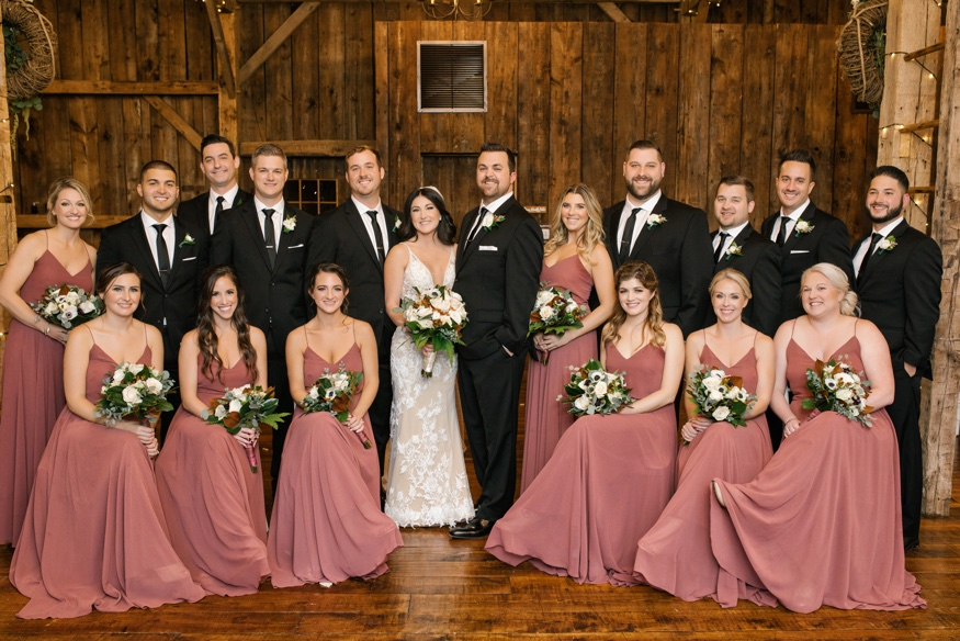 Bridal party portraits at the Brandywine Manor House wedding.