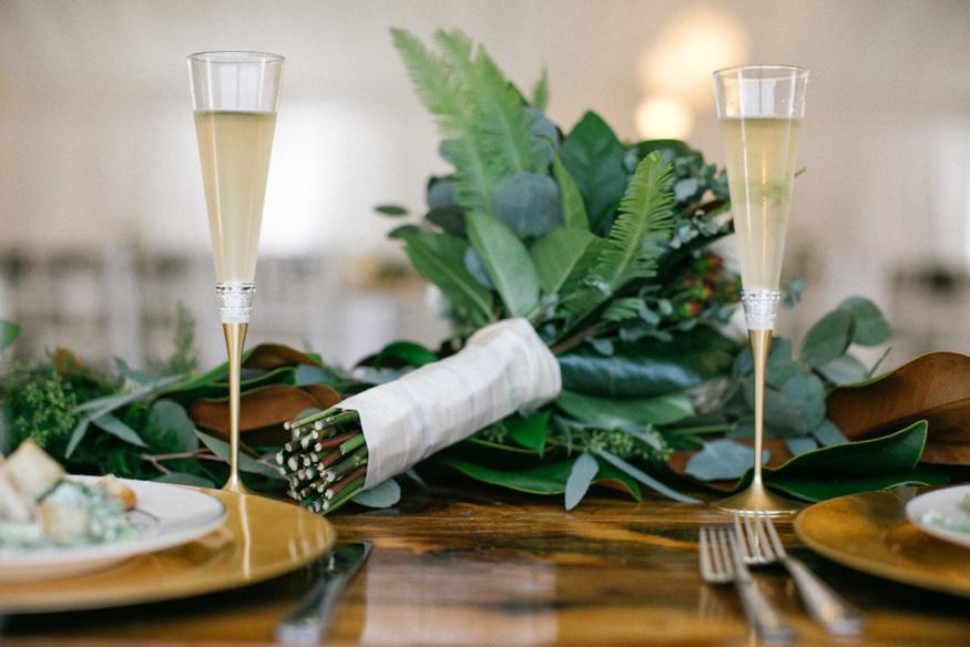 Reception details at Brandywine Manor House wedding.