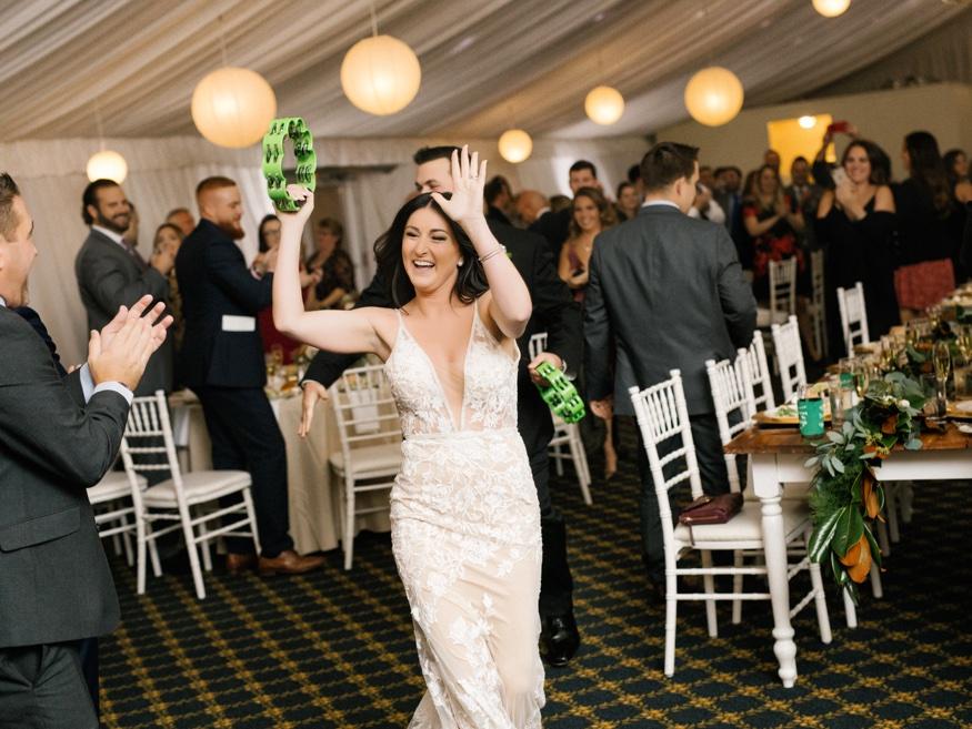 Bride & Groom entrance at Brandywine Manor House wedding reception.