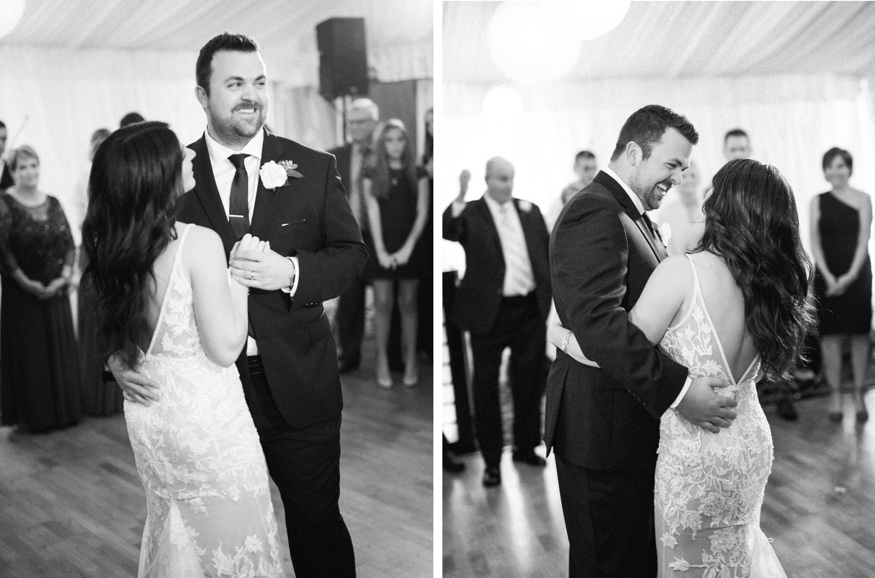 Bride & Groom first dance at Brandywine Manor House wedding.