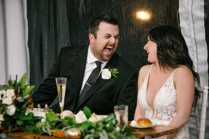 Maid of Honor and Best Man speeches at Brandywine Manor House wedding.