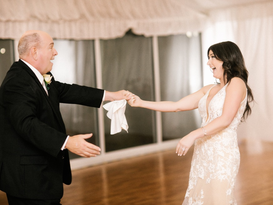 Father and daughter dance at Brandywine Manor House wedding.