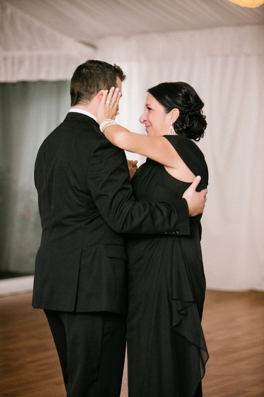 Mother and son dance at Brandywine Manor House wedding.