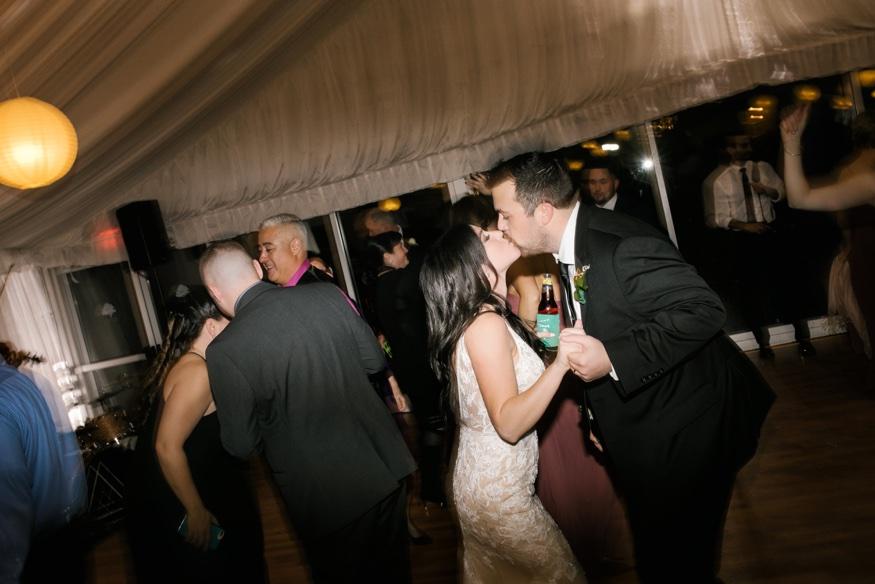 Dancing at Brandywine Manor House wedding reception. DJ Ben Ostroff from EBE.