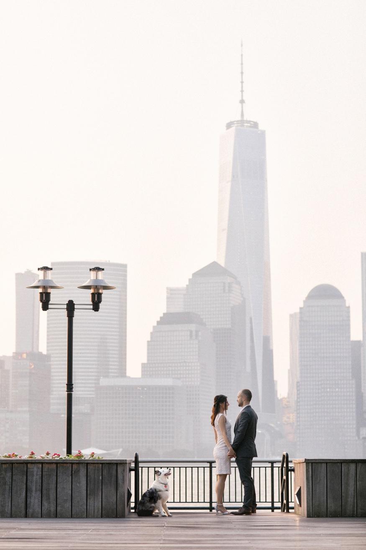 New York City sunrise engagement session.
