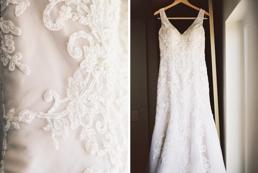 Wedding dress by Demetrios at Pen Ryn wedding.