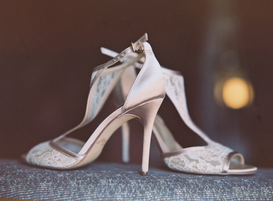 Badgley Mischka wedding shoes at Pen Ryn wedding.