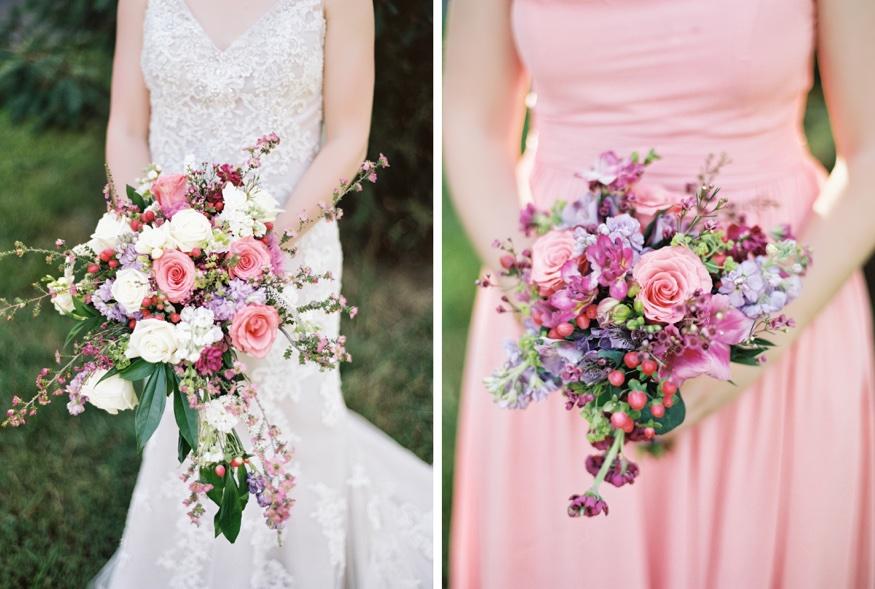 Bridal bouquets by Eastwick's Florist at Pen Ryn wedding.