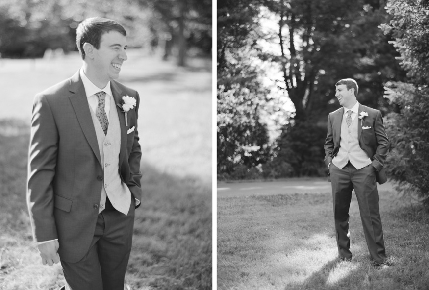 Bride and groom portraits at Neshaminy State Park before Pen Ryn wedding.