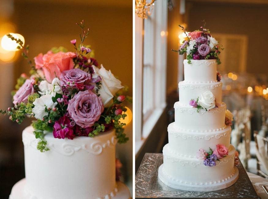 Wedding reception at Pen Ryn Estate. Cake by Ingro's Pastries.