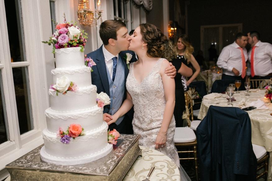 Cake cut at Pen Ryn wedding.