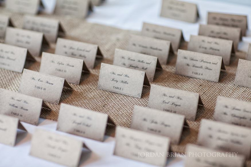 card details at ocean city yacht club wedding