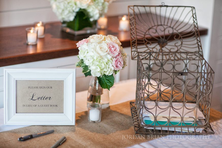 table details at ocean city yacht club wedding