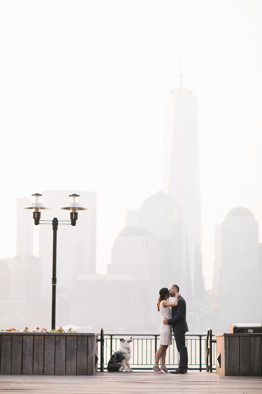 Jersey City engagement session.