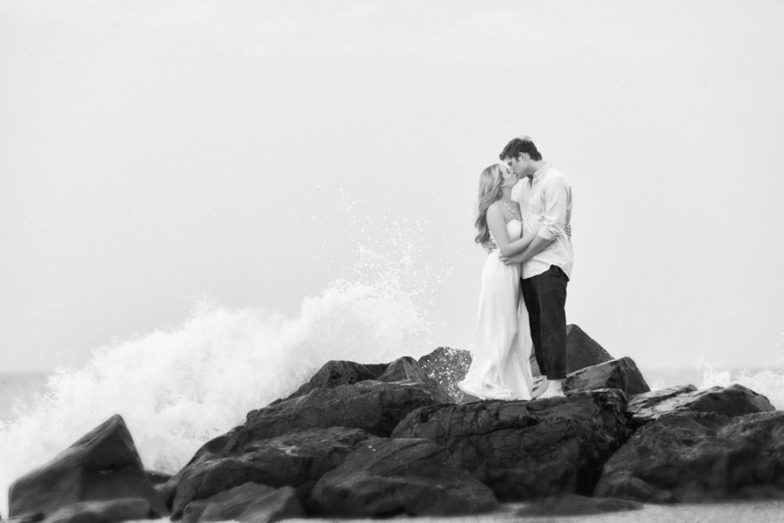 Long Branch beach engagement session.